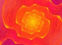 Spiral fractalbakgrund Arkivfoto