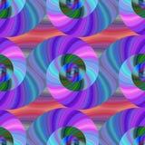 Spiral fractalmodell i ljusa färger Royaltyfri Bild