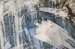 Spiral, fragment, hot batik, background texture, handmade on silk vector illustration