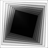 Spiral frame. Squares twisting in a spiral Royalty Free Stock Image