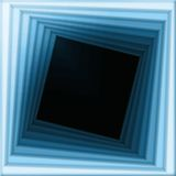Spiral frame. Squares twisting in a spiral Royalty Free Stock Photos