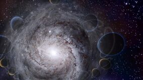 Spiral galaxies and planets