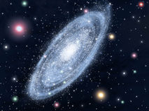 Spiral galaxy. Theoretical vision of our Milk Way Stock Image
