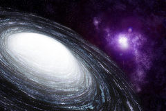 Spiral galaxy in deep space - abstract background Royalty Free Stock Image