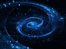 Spiral galaxy in deep space stock photography