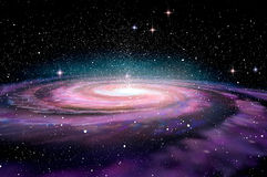 Spiral Galaxy in deep space, Royalty Free Stock Photography