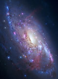 Spiral galaxy in deep space Stock Photos