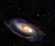 Spiral galaxy in deep space. Stock Image