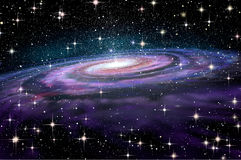 Spiral Galaxy in deep spcae Royalty Free Stock Image