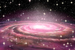 Spiral Galaxy in deep spcae Royalty Free Stock Photo