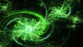 Spiral galaxy. Far space. Twists magnetic field. Stock Photos