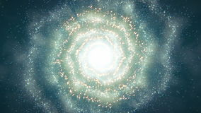 Free Spiral Galaxy Flight Royalty Free Stock Images - 46159539