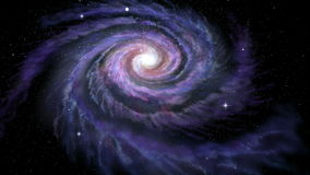Spiral Galaxy Milky Way stock footage