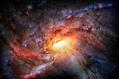 Spiral galaxy in outer space. stock photos