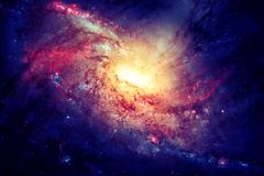 Spiral galaxy in outer space. Beauty of universe. Elements furnished by NASA royalty free stock photo