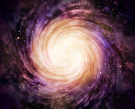 Spiral galaxy in space Royalty Free Stock Image