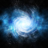 Spiral galaxy in space Stock Photos