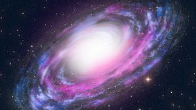 Spiral Galaxy. Space theme background stock illustration