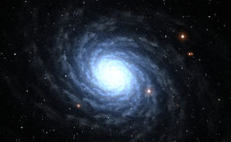 Spiral Galaxy with star field Royalty Free Stock Photo