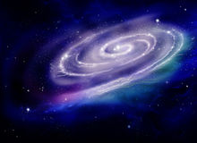 Spiral Galaxy. Stars of a planet and galaxy in a free space Royalty Free Stock Images
