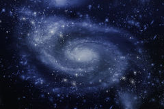 Spiral galaxy. Stars of a planet and galaxy in a free space Stock Photography