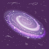 The Spiral Galaxy and Stars. Space Background. The Universe. Suitable for textile, fabric, packaging and web design. Stock Photo