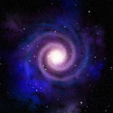 Spiral galaxy top view stock illustration