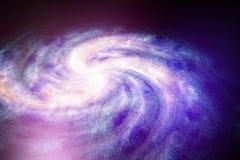 Spiral galaxy universe neblua sky astronomy purple blue Stock Image