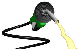Spiral gas pump flowing Royalty Free Stock Photo