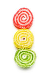 Spiral Gelatin Sweets Stock Photo