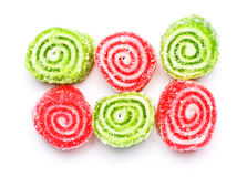 Spiral Gelatin Sweets Stock Photography