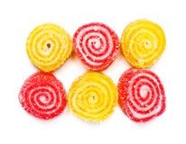 Spiral Gelatin Sweets Royalty Free Stock Images