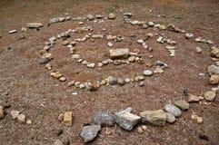 Stenen röra sig i spiral abstrakt begrepp Royaltyfria Foton