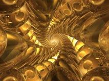 Spiral from glass spheres stock illustration