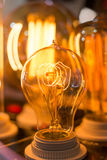 Spiral Glowing Led filament cob lamp Stock Image