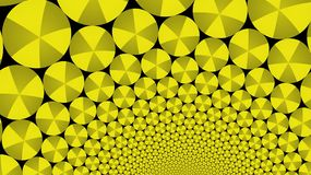 The spiral of gold disks. The graphic pattern. Wallpaper. Fractal graphic.The spiral of gold disks. The graphic pattern. Wallpaper Vector Illustration