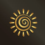 Spiral golden sun image logo Royalty Free Stock Images