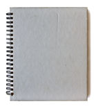 Spiral gray notebook Stock Images