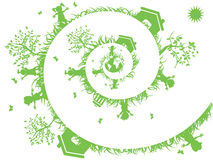 Spiral green. The background of spiral green for eco design Stock Images