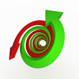 Spiral growth gray arrow Stock Images