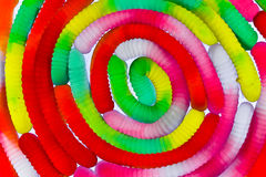 Spiral of gummy worms Royalty Free Stock Photo
