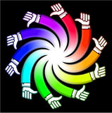 Spiral hand Stock Images