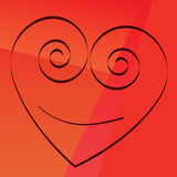 Spiral heart. Smiling heart can used as a present of love Vector Illustration
