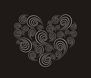 Spiral heart Stock Images