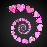 Spiral hearts Stock Images