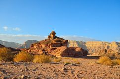 Spiral Hill. The Spiral Hill in Timna Valley,  the southwestern Arabah, Israel Royalty Free Stock Photography