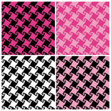 Spiral Houndstooth Pattern Royalty Free Stock Photos