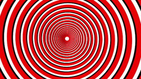 Spiral hypnotic animation. Black, red and white looping. stock video
