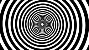 Spiral hypnotic animation. Black and white looping.