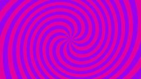 Spiral hypnotisk ögla arkivfilmer